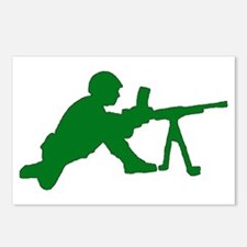 Machine Gunner Toy Soldier Postcards (Package of 8