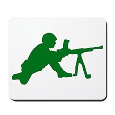 Machine Gunner Toy Soldier Mousepad