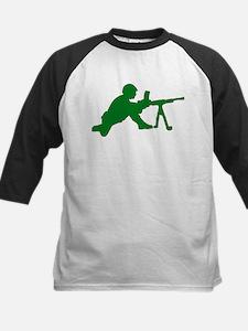 Machine Gunner Toy Soldier Kids Baseball Jersey