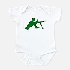Machine Gunner Toy Soldier Infant Bodysuit