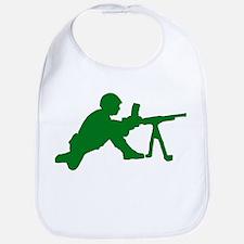 Machine Gunner Toy Soldier Bib