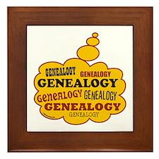 Genealogy Thoughts Framed Tile