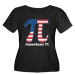 American Pi Women's Plus Size Scoop Neck Dark T-Sh