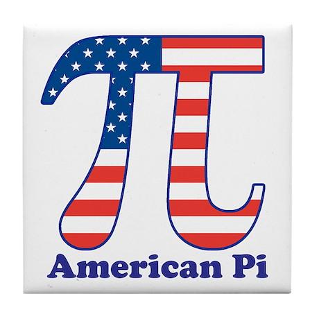 American Pi Tile Coaster