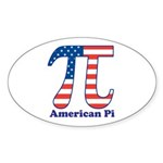 American Pi Oval Sticker