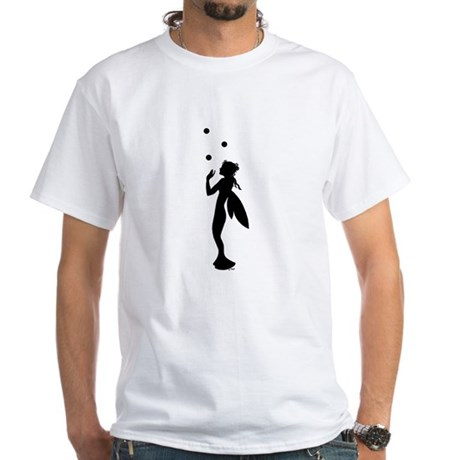 Water Nymph juggling Bubbles White T-Shirt