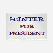Hunter for President Rectangle Magnet