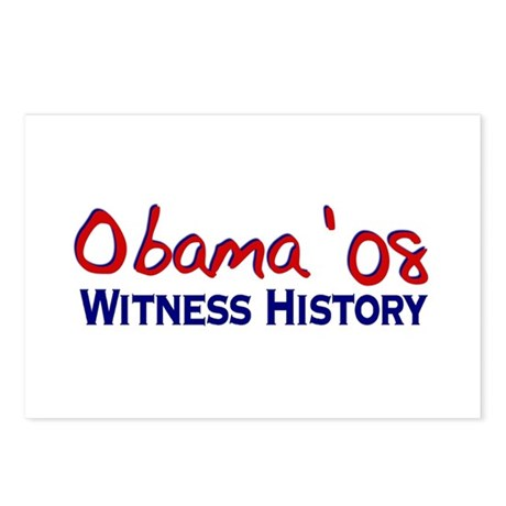 Obama 08 Witness History Postcards (Package of 8)