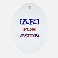 Jake for President Oval Ornament