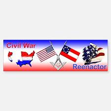 Masonic Civil War Re-enactor Bumper Bumper Bumper Sticker