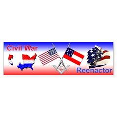 Masonic Civil War Re-enactor Bumper Bumper Sticker