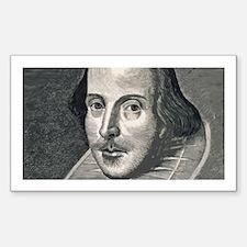 Wm Shakespeare Sticker (Rectangle)