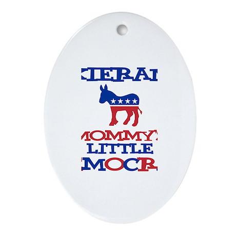 Kieran - Mommy's Democrat Oval Ornament