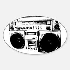 BoomBox Oval Decal