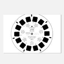 Viewfinder disk Postcards (Package of 8)