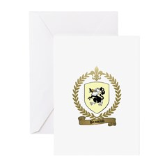 BRASSAUD Family Crest Greeting Cards (Pk of 10