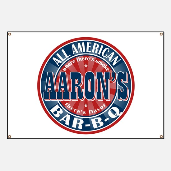 Aaron's All American Barbeque Banner