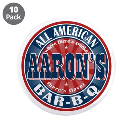 """Aaron's All American Barbeque 3.5"""" Button (10 pack"""