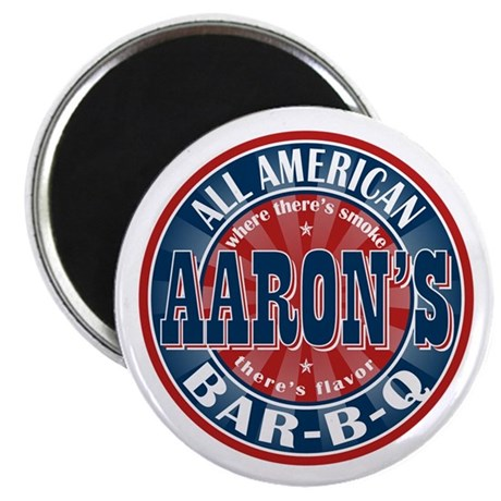 "Aaron's All American Barbeque 2.25"" Magnet (10 pac"