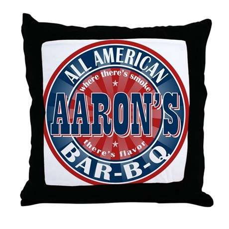 Aaron's All American Barbeque Throw Pillow