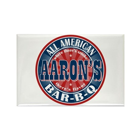 Aaron's All American Barbeque Rectangle Magnet (10