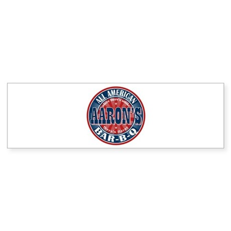 Aaron's All American Barbeque Bumper Sticker