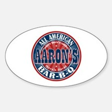Aaron's All American Barbeque Oval Decal