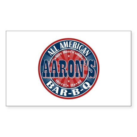 Aaron's All American Barbeque Rectangle Sticker