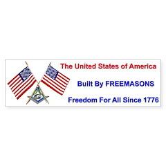 Masonic USA MASON Freedom Bumper Bumper Sticker