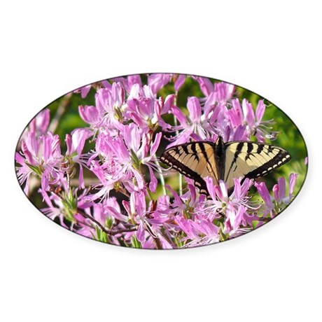 Canadian Swallowtail Oval Sticker
