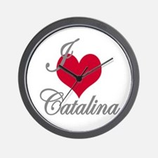 I love (heart) Catalina Wall Clock