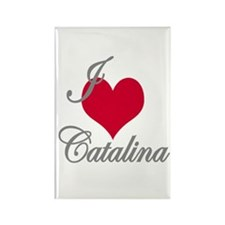 I love (heart) Catalina Rectangle Magnet (100 pack