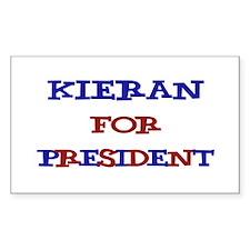 Kieran for President Rectangle Decal