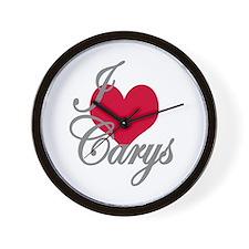 I love (heart) Carys Wall Clock