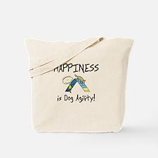 Happy Agility Dog Tote Bag