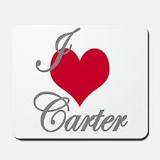 I love (heart) Carter Mousepad