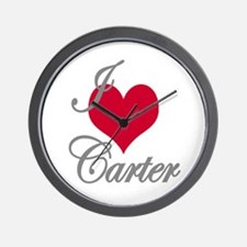 I love (heart) Carter Wall Clock