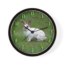 White Bunny Wall Clock