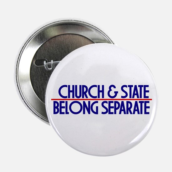 Church & State Belong Separat Button