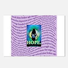 Rape survivor Postcards (Package of 8)