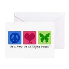 Peace Love Life Greeting Card
