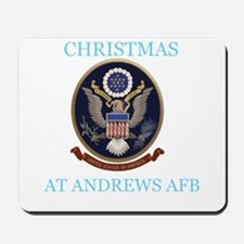 christmas at andrews afb Mousepad