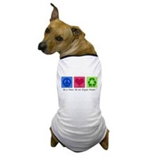 Peace Love Recycle Dog T-Shirt