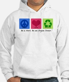 Peace Love Recycle Hoodie