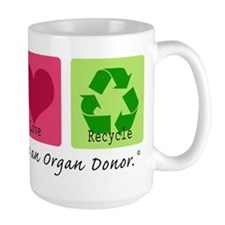 Peace Love Recycle Mug