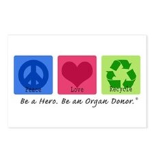 Peace Love Recycle Postcards (Package of 8)