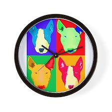 Cute Bull terrier Wall Clock