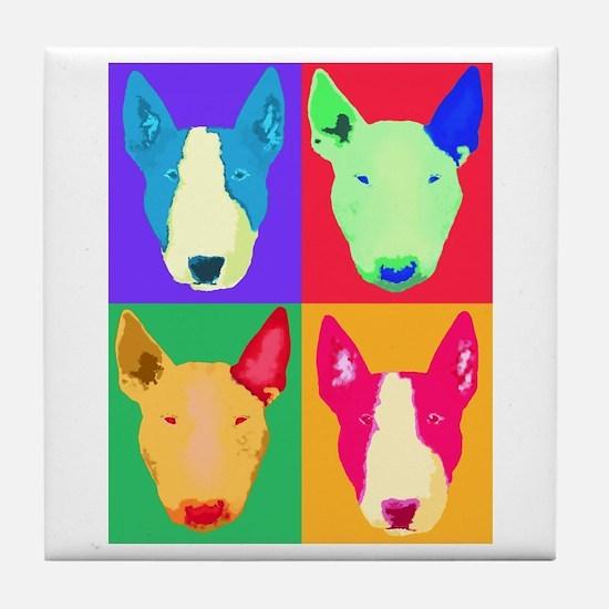 Unique Bull terrier Tile Coaster