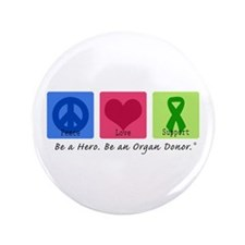 """Peace Love Support 3.5"""" Button"""