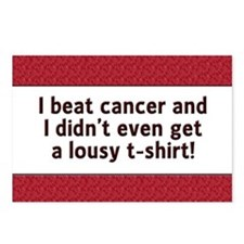 Cancer - Lousy T-Shirt Postcards (Package of 8)